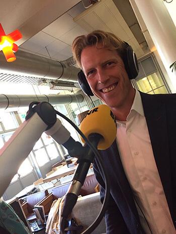 Pieter van der Houwen bij BNR