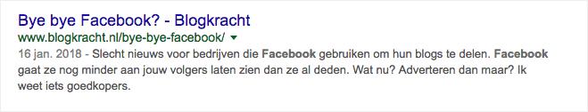 bye bye facebook op google