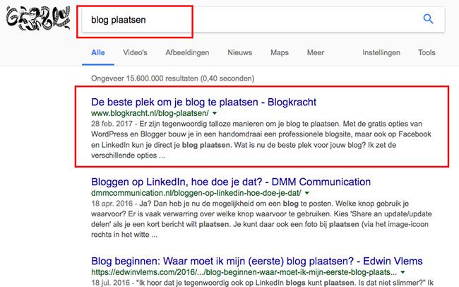 Alleen met blogs kun je scoren in Google