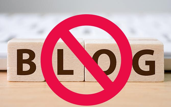 stop met bloggen