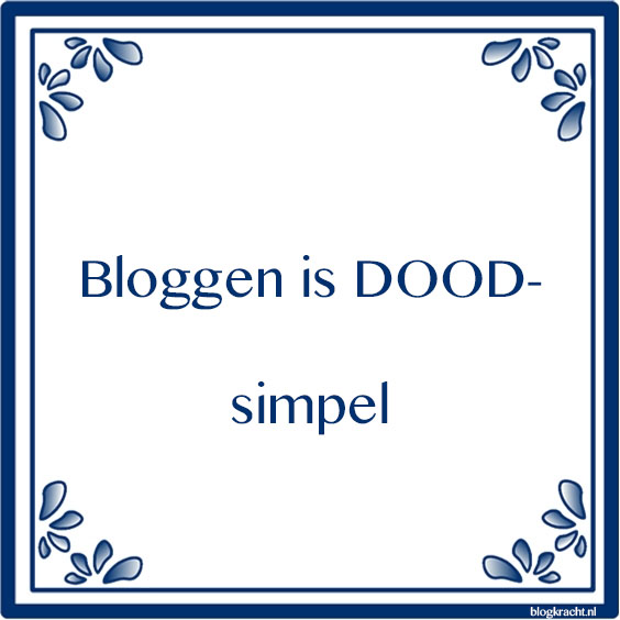 bloggen is dood