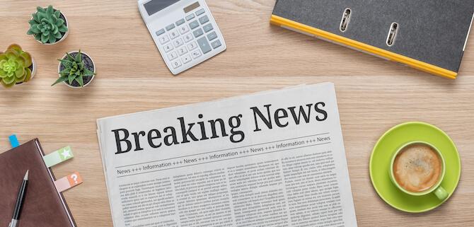 Krant met breaking news als voorbeeld hoe je in kunt haken op de actualiteit