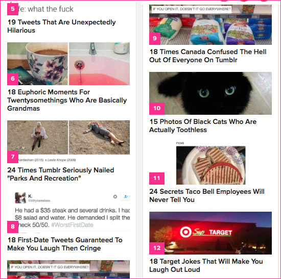 Buzzfeed titels