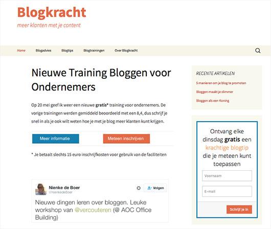 Homepage Blogkracht