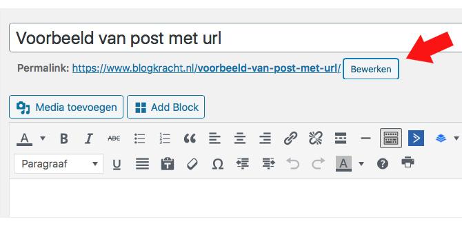 url bewerken blog